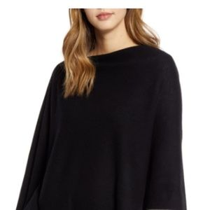 VELVET wool cashm S off shoulder poncho sweater
